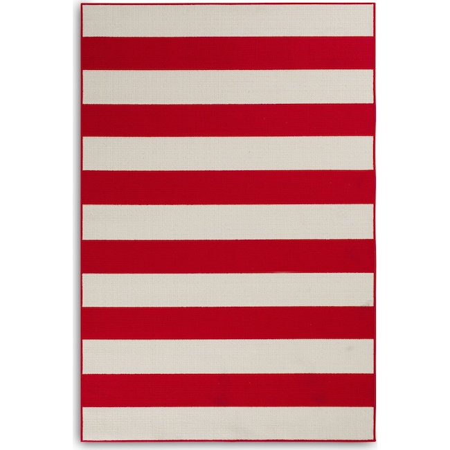 Outdoor Furniture - Awning 8' x 10' Indoor/Outdoor Rug - Red