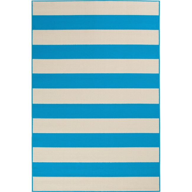 Outdoor Furniture - Awning 8' x 10' Indoor/Outdoor Rug - Turquoise