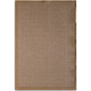 Basket 9' x 12' Indoor/Outdoor Rug - Brown