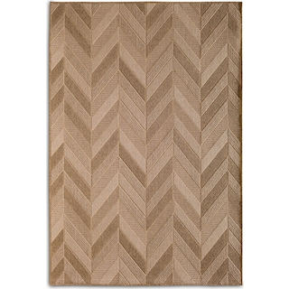 Chevron 8' x 10' Indoor/Outdoor Rug - Natural