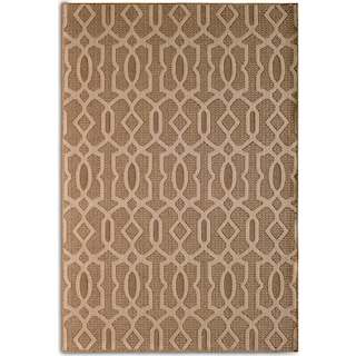 Fretwork 7' x 10' Indoor/Outdoor Rug - Brown