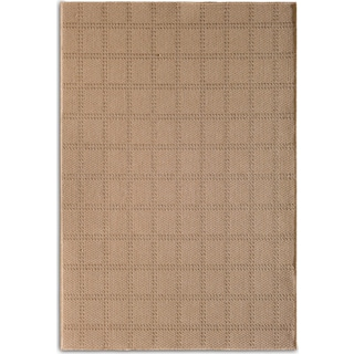Plaid 8' x 10' Indoor/Outdoor Rug - Beige