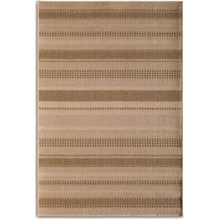 Stripe 5' x 8' Indoor/Outdoor Rug - Natural