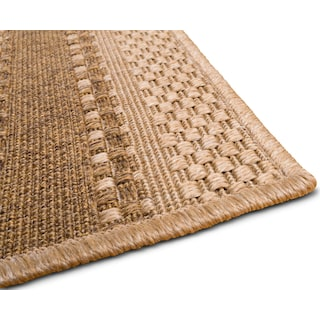 Stripe 9' x 12' Indoor/Outdoor Rug - Natural