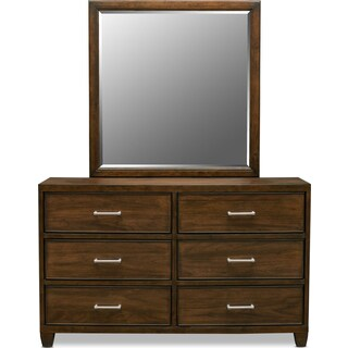 Sullivan Dresser and Mirror - Walnut