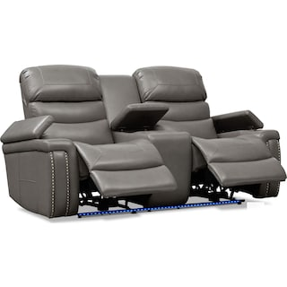 Jackson Triple-Power Reclining Loveseat - Gray