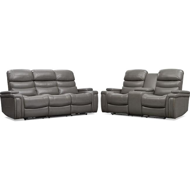 Living Room Furniture - Jackson Triple-Power Reclining Sofa and Loveseat Set