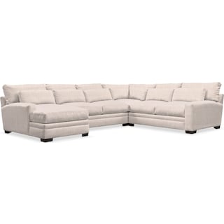 Winston Cumulus 4-Piece Sectional with Left-Facing Chaise - Beige