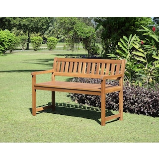 Hampton Beach Outdoor Bench - Teak