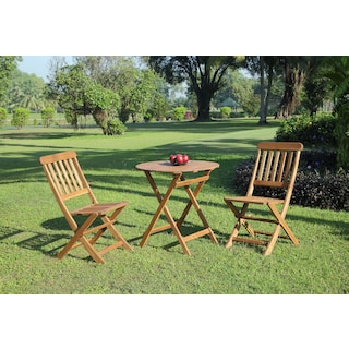 Hampton Beach 3-Piece Outdoor Bistro Set - Teak