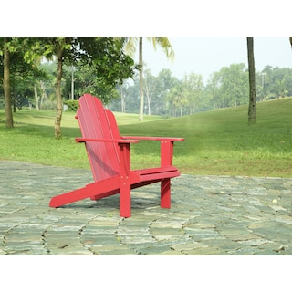 Hampton Beach Outdoor Adirondack Chair - Red