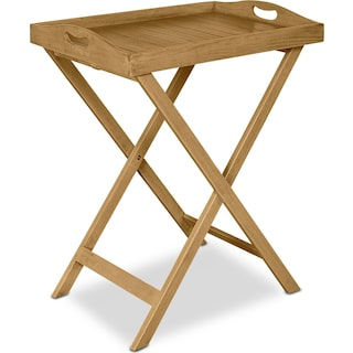 Hampton Beach Outdoor Folding Tray Table - Brown