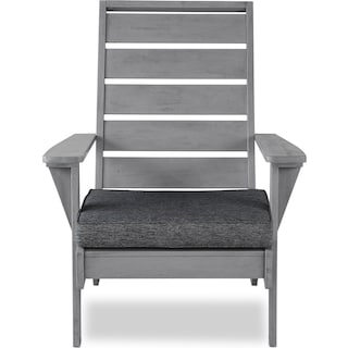 Hampton Beach Outdoor Chair - Gray