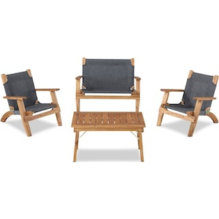 Nantucket 4-Piece Youth Outdoor Set - Brown