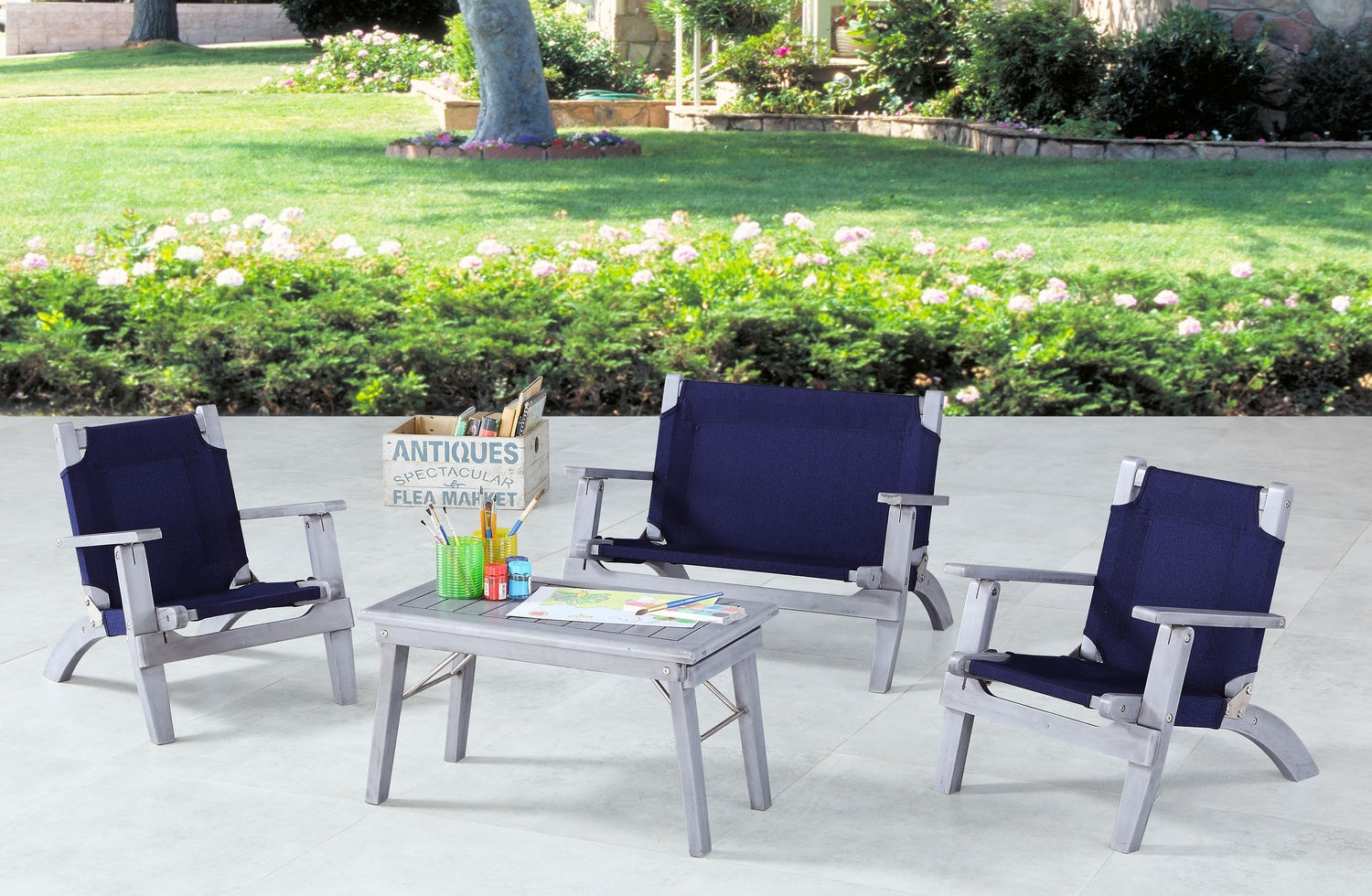 Outdoor Furniture - Nantucket 4-Piece Youth Outdoor Set