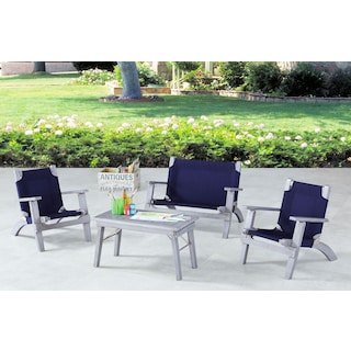 Nantucket 4-Piece Youth Outdoor Set - Gray