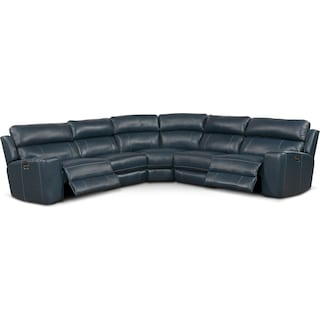 Newport 5-Piece Dual-Power Reclining Sectional with 2 Reclining Seats