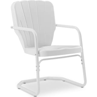 Jack Set of 2 Outdoor Chairs - White