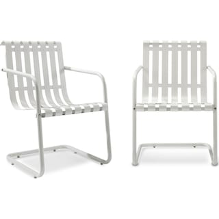 Janie Set of 2 Outdoor Chairs - White