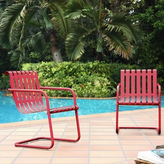 Janie Set of 2 Outdoor Chairs and Side Table