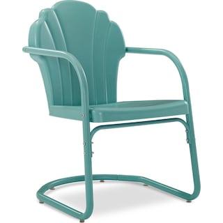 Petal Retro Outdoor Chair - Blue