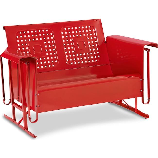 Outdoor Furniture - Preston Outdoor Loveseat Glider