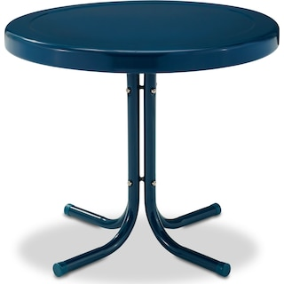 Retro Outdoor Side Table - Navy