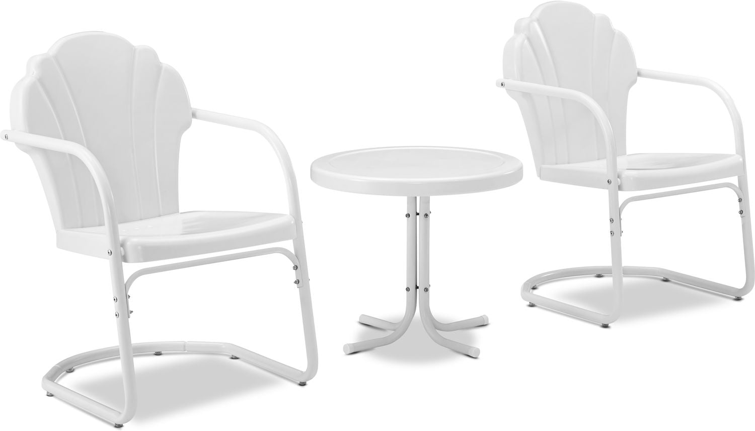 Outdoor Furniture - Tulip Set of 2 Outdoor Chairs and Side Table