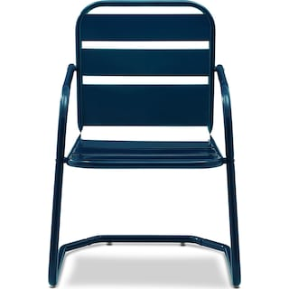Wallace Set of 2 Outdoor Chairs - Navy