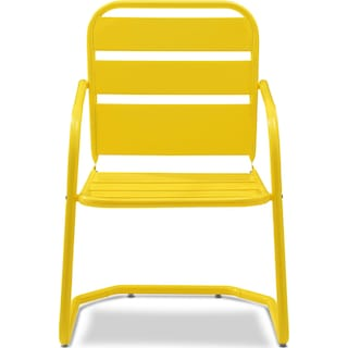 Wallace Set of 2 Outdoor Chairs - Yellow