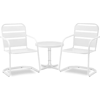 Wallace Set of 2 Outdoor Chairs and Side Table