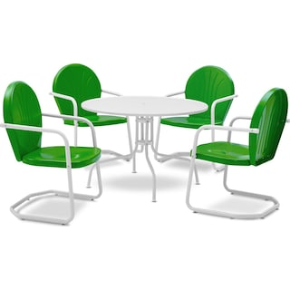 Kona 5-Piece Outdoor Dining Set - Grasshopper Green