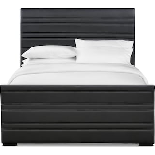 Allori Queen Upholstered Bed - Black