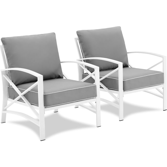 Outdoor Furniture - Clarion Set of 2 Outdoor Chairs
