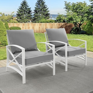Clarion Set of 2 Outdoor Chairs - Gray