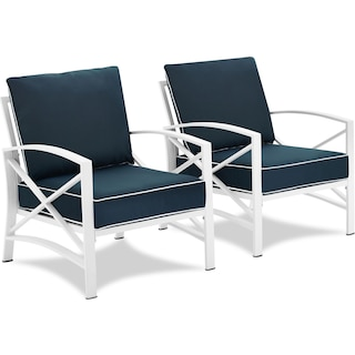Clarion Set of 2 Outdoor Chairs - Navy