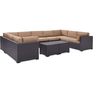 Isla 5-Piece Outdoor Sectional and 2 Coffee Tables