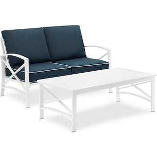 Clarion Outdoor Loveseat and Coffee Table Set