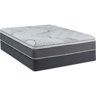 Dream–In–A–Box Premium Firm King Mattress and Foldable Split Foundation