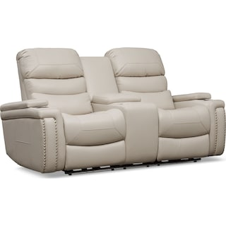 Jackson Triple-Power Reclining Loveseat - Ivory