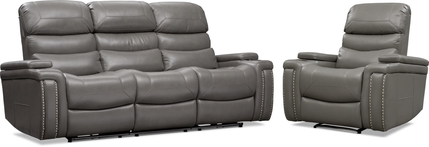 Living Room Furniture - Jackson Triple Power Reclining Sofa and Recliner Set
