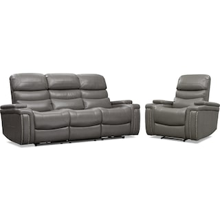 Jackson Triple Power Reclining Sofa and Recliner Set
