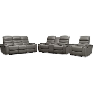Jackson Manual Reclining Sofa, Loveseat, and Recliner Set