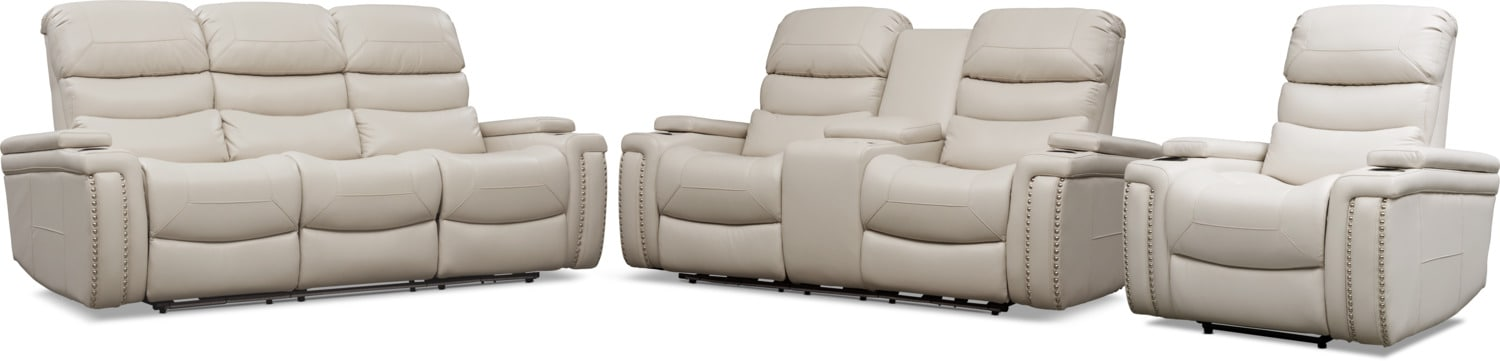 Living Room Furniture - Jackson Triple-Power Reclining Sofa, Loveseat, and Recliner