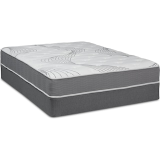 Dream–In–A–Box Simple Firm King Mattress and Foldable Split Foundation