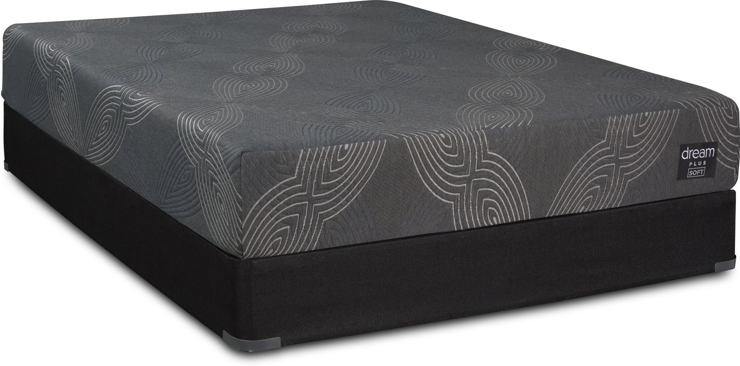 Mattresses and Bedding - Dream-In-A-Box Plus Soft Twin XL Mattress and Low-Profile Foundation