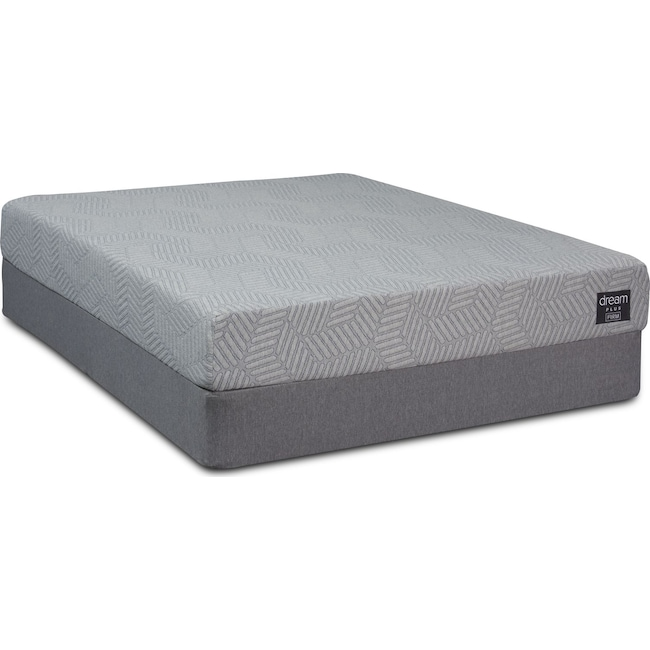 Mattresses and Bedding - Dream-In-A-Box Plus Firm Queen Mattress and Foldable Foundation