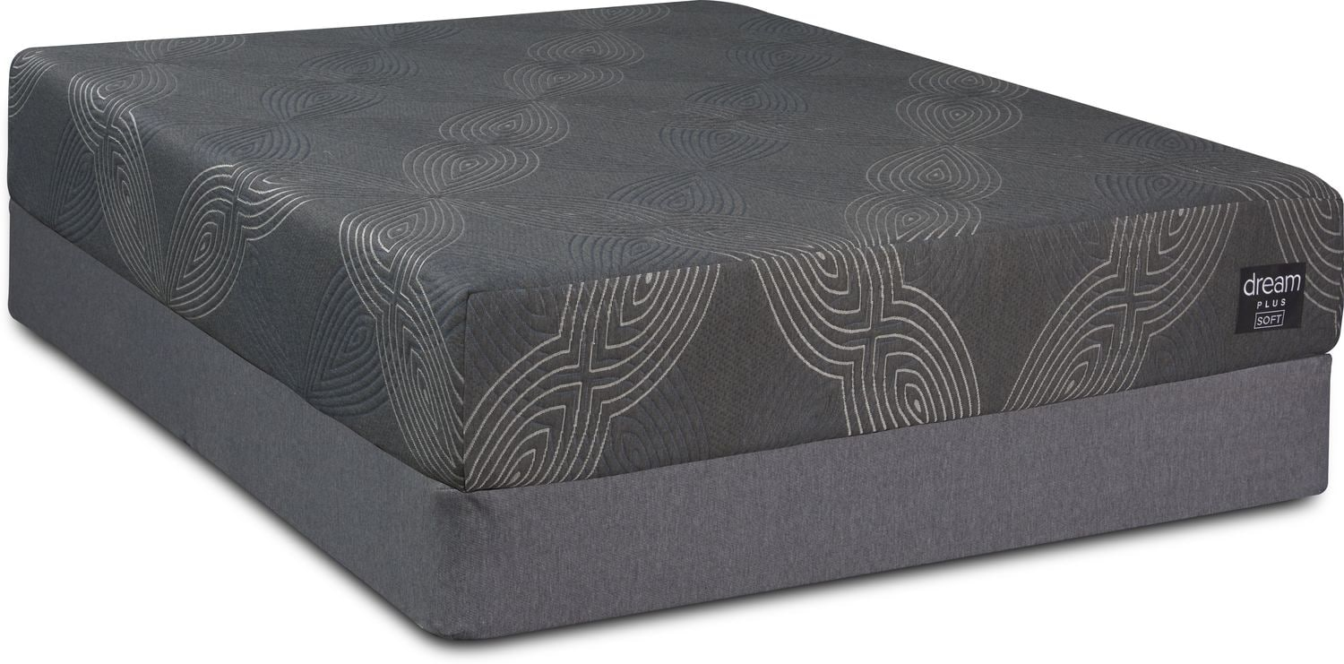 Mattresses and Bedding - Dream-In-A-Box Plus Soft Queen Mattress and Foldable Foundation