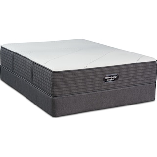 BRX1000-IP Soft King Mattress and Low-Profile Split Foundation