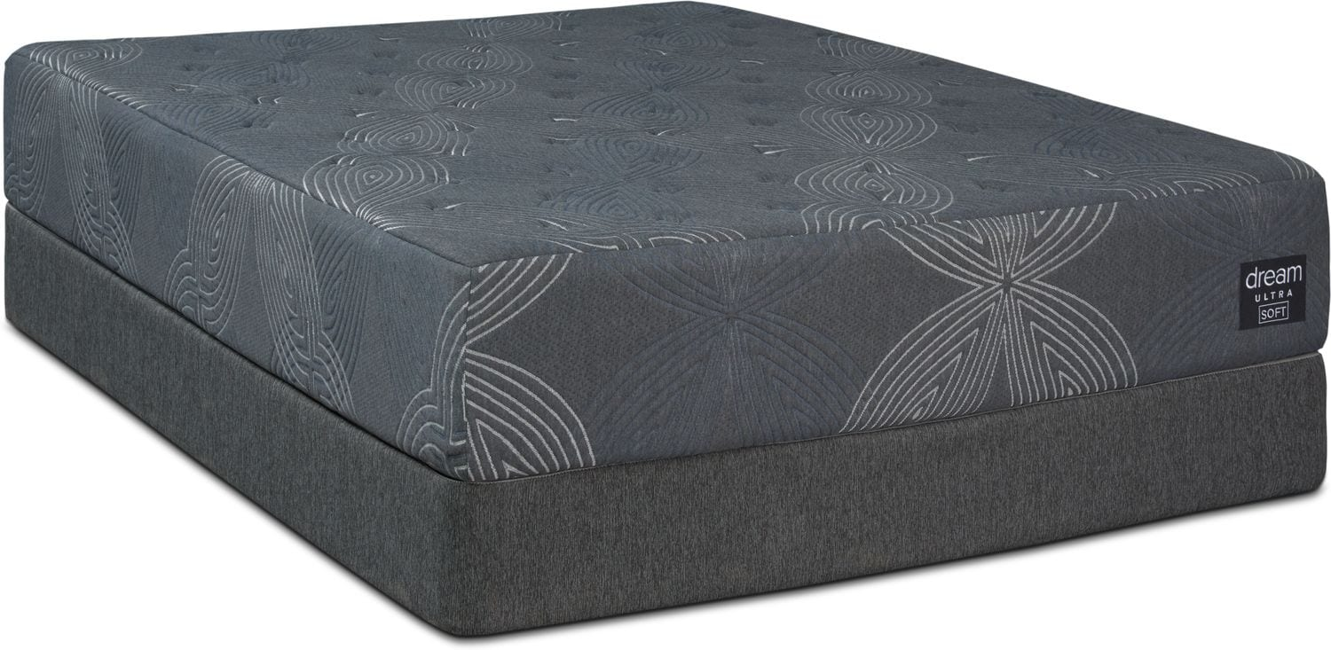 Mattresses and Bedding - Dream-In-A-Box Ultra Soft Twin Mattress and Low-Profile Foundation